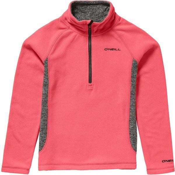 O'Neill PG SLOPE HZ FLEECE rózsaszín 128 - Lány meleg pulóver