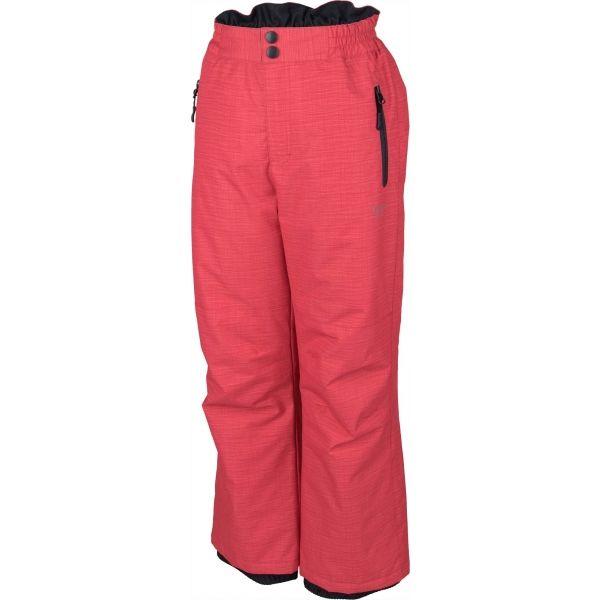 Lewro NUR růžová 140-146 - Dětské lyžařské kalhoty