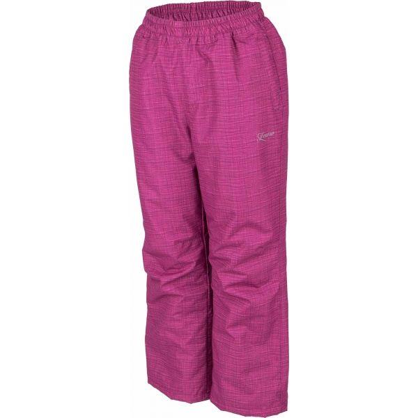 Lewro NOY fialová 152-158 - Detské zateplené nohavice