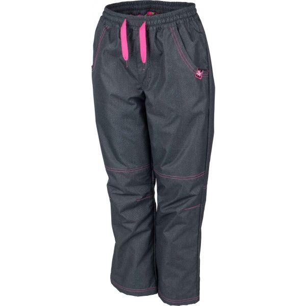Lewro NING różowy 140-146 - Spodnie ocieplane dziecięce
