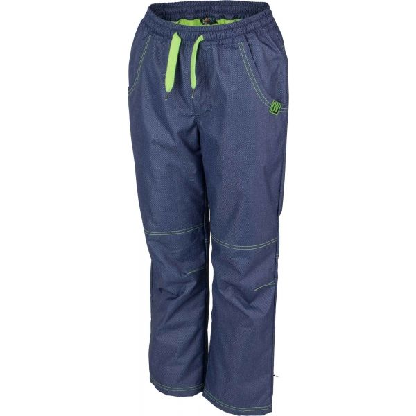 Lewro NING zelená 128-134 - Detské zateplené nohavice