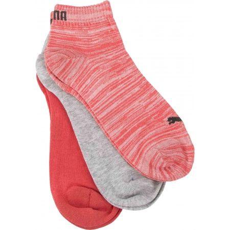 Unisex ponožky - Puma QUARTER PLAIN 3P - 7