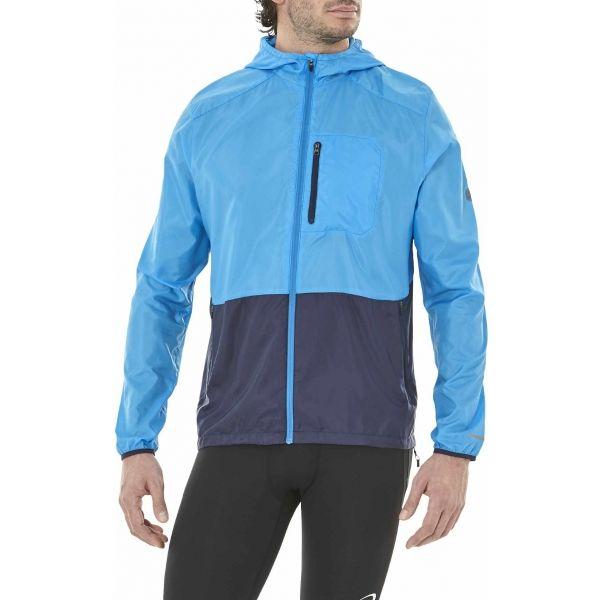 Asics PACKABLE JACKET modrá S - Pánská běžecká bunda