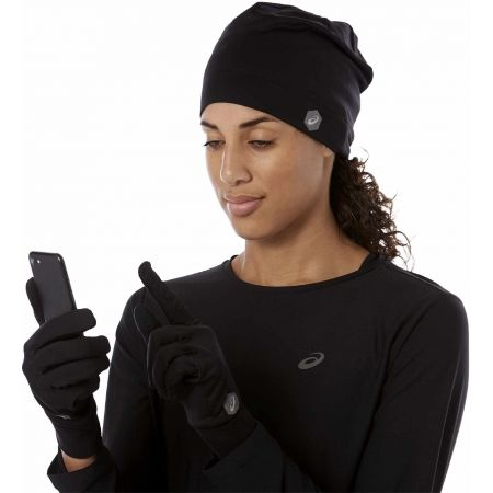 Čepice + rukavice - Asics RUNNING PACK - 7