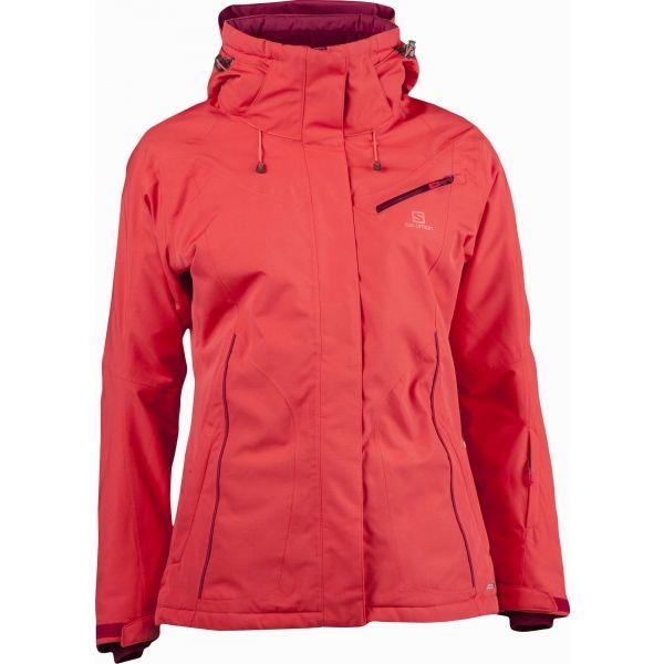 Salomon FANTASY JKT W ružová XL - Dámska zimná bunda