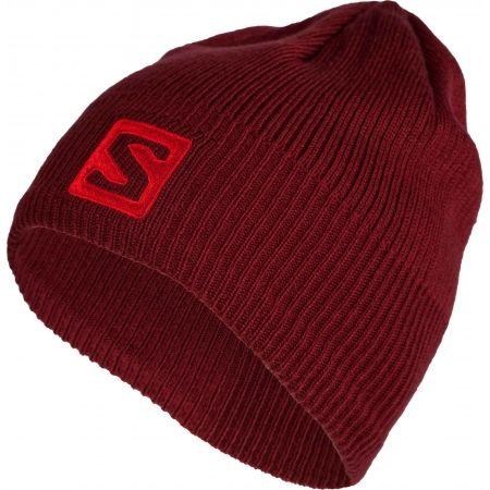 Zimní čepice - Salomon LOGO BEANIE - 1 e9a6dc195c