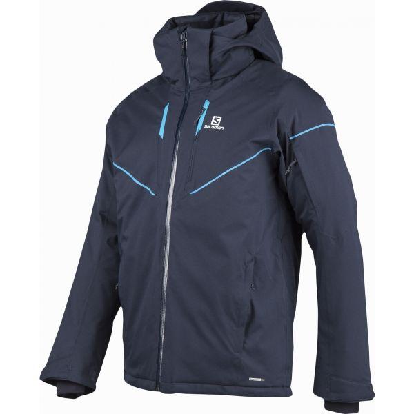 Salomon STORMRACE JKT M tmavě modrá XL - Pánská lyžařská  bunda