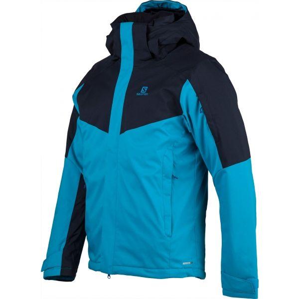 Salomon STORMSEEKER JKT M modrá S - Pánská lyžařská bunda