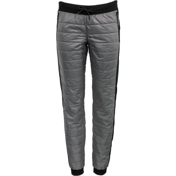 ALPINE PRO PLUMA sivá L - Dámske zateplené nohavice