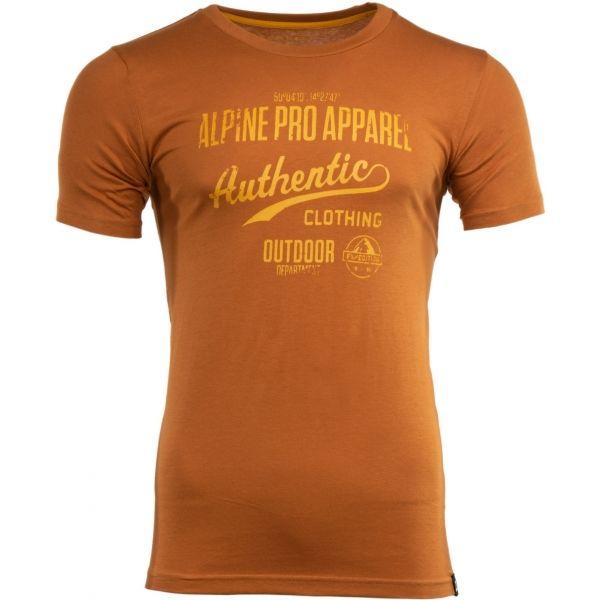 ALPINE PRO RANDOM 2 hnědá L - Pánské triko