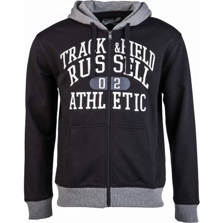 Pánská mikina - Russell Athletic ZIP THROUGH HOODY  WITH GRAPHIC PRINT - 1