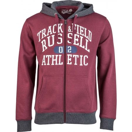 Pánska mikina - Russell Athletic ZIP THROUGH HOODY  WITH GRAPHIC PRINT - 1