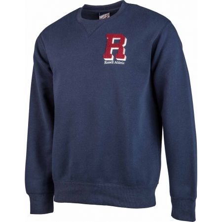 Férfi pulóver - Russell Athletic CREW NECK SWEATSHIRT - R CHENILLE EMBROIDERY - 2
