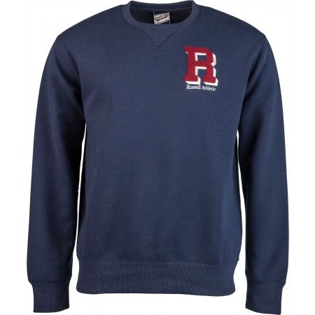 Férfi pulóver - Russell Athletic CREW NECK SWEATSHIRT - R CHENILLE EMBROIDERY - 1