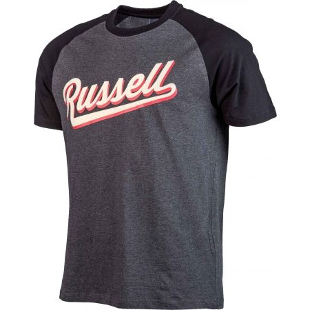 Men's T-shirt - Russell Athletic S/S RAGLAN CREW NECK TEE - RUSSELL SCRIPT - 2