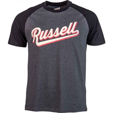 Men's T-shirt - Russell Athletic S/S RAGLAN CREW NECK TEE - RUSSELL SCRIPT - 1