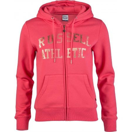 Dámská mikina - Russell Athletic ZIP THROUGH LOGO HOODY - 1
