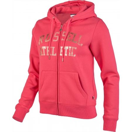 Dámská mikina - Russell Athletic ZIP THROUGH LOGO HOODY - 2