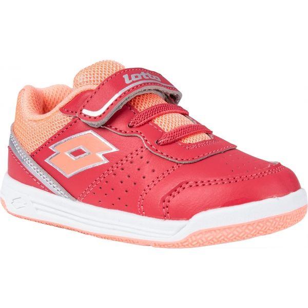 Lotto SET ACE XII INF SL růžová 22 - Dětská volnočasová obuv