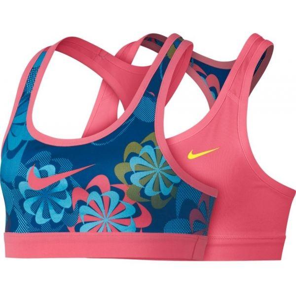 Nike NP BRA CLASSIC REV AOP1 G rózsaszín XL - Gyerek sportmelltartó