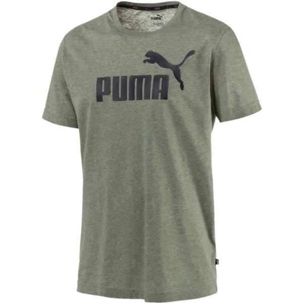 Puma ELEVATED ESS TEE HEATHER zielony XXL - Koszulka męska