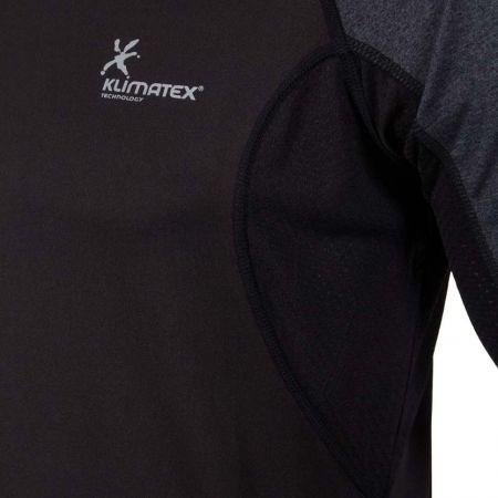 Pánské běžecké tričko s dlouhým rukávem - Klimatex SVEN - 4