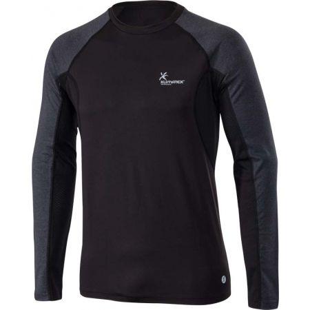 Pánské běžecké tričko s dlouhým rukávem - Klimatex SVEN - 1
