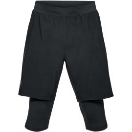 Under Armour LAUNCH SW LONG SHORT - Men's running shorts 2in1