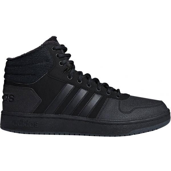 adidas HOOPS 2.0 MID černá 12 - Pánské volnočasové boty