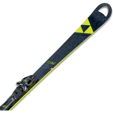 Zjazdové lyže - Fischer RC4 WC SC RT YELLOW BASE + RC4 Z12 PR - 1