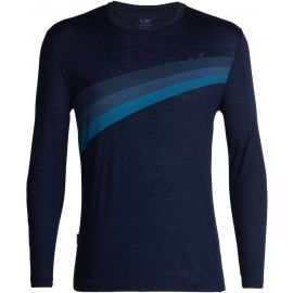 Icebreaker SPECTOR LS CREWE ASCENT STRIPE - Men's T-shirt