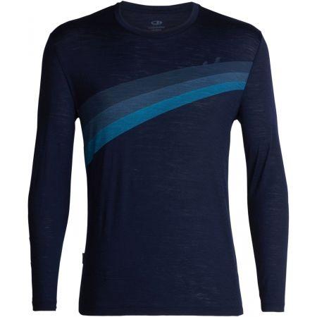 Pánske tričko - Icebreaker SPECTOR LS CREWE ASCENT STRIPE - 1