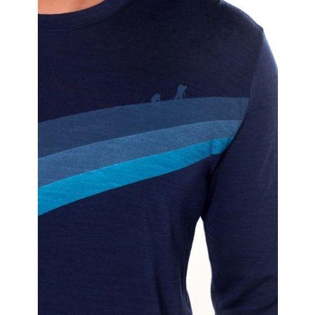 Tricou de bărbați - Icebreaker SPECTOR LS CREWE ASCENT STRIPE - 5