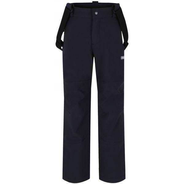 Loap LEWRY čierna 122-128 - Detské softshellové nohavice