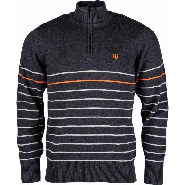 Willard KIAN tmavě šedá L - Pánský pletený svetr