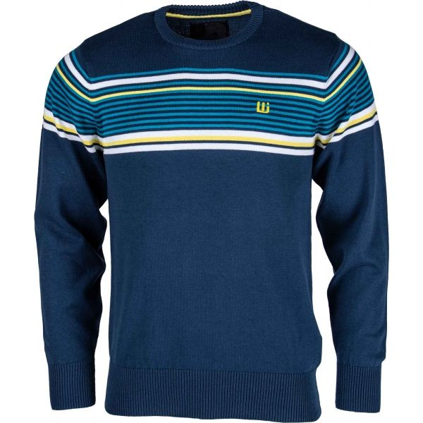 Willard ELMAR tmavě modrá XL - Pánský pletený svetr