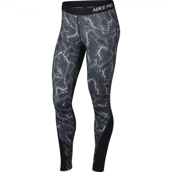 Nike TGHT PRT CHAIN FEATHER černá L - Dámské legíny