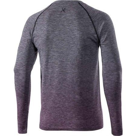 Pánske outdoorové bezšvové tričko s dlhým rukávom - Klimatex SAVELI - 2