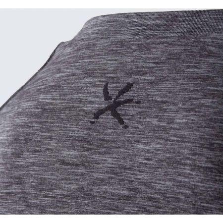 Pánske outdoorové bezšvové tričko s dlhým rukávom - Klimatex SAVELI - 4