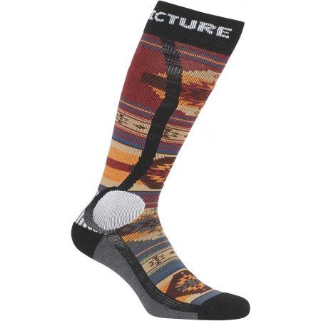 Lyžiarske ponožky - Picture WOOLING - 2