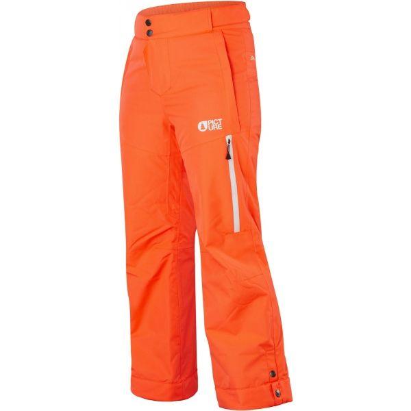 Picture MIST oranžová 8 - Detské lyžiarske nohavice
