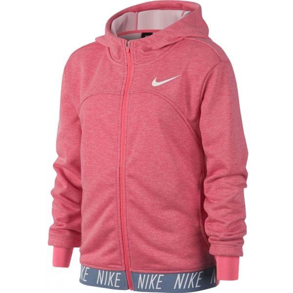 Nike DRY HOODIE FZ STUDIO rózsaszín XL - Lány sportos pulóver
