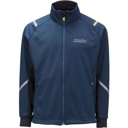 Swix JR CROSS CURVED - Detská športová softhellová bunda