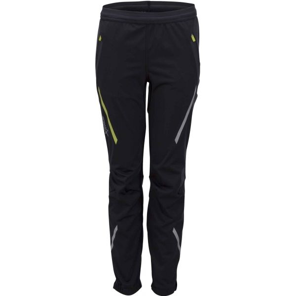 Swix JR CROSS STRAIGHT černá 128 - Dětské sportovní kalhoty