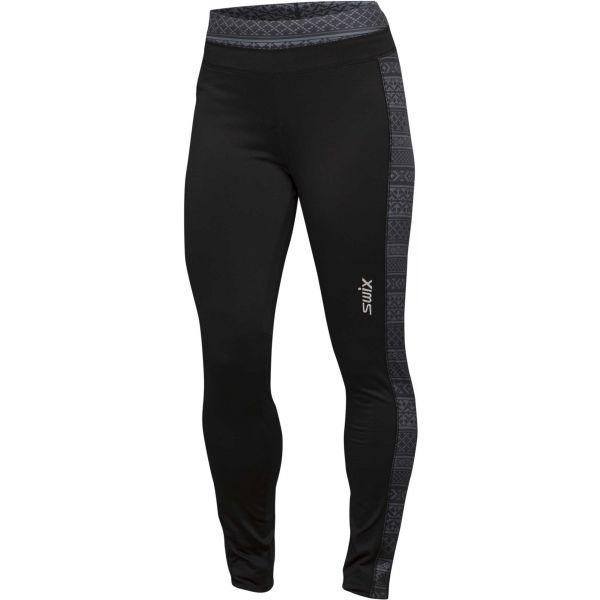 Swix MYRENE TIGHT černá XL - Deisgnové sportovní šponovky