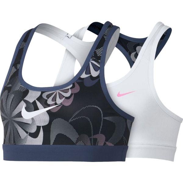 Nike NP BRA CLASSIC REV AOP1 G fekete L - Gyerek sportmelltartó