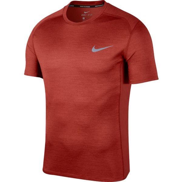 Nike MILER TOP SS červená M - Pánské běžecké triko