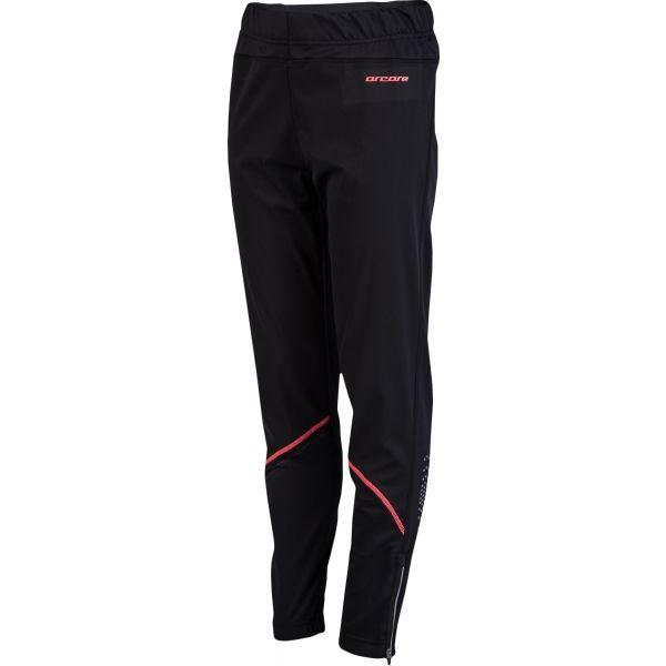 Arcore BALIN růžová 128-134 - Dětské běžecké kalhoty