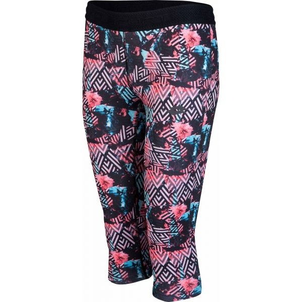 Lotto X-FIT LEGGINGS MID W fekete XL - Női háromnegyedes legging