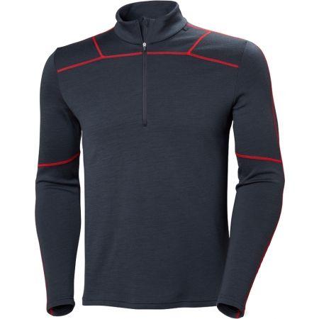 Tricou de bărbați cu fermoar - Helly Hansen LIFA MERINO 1/2 ZIP - 1